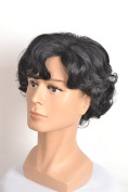 Yuehong Sherlock Holmes Short Curly Black Cosplay Wig Halloween Cosplay  .