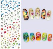 Nail Art Water Transfer Stickers Palm tree - DS124 Nail Sticker Tattoo - FashionDancing