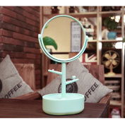 Multifunctional Mirror LuckyFine Two-sided Big Makeup Mirror Clear Cosmetics Vanity Mirror With Casket Depositing Your Toiletry Little Things Blue