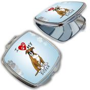 BleuReign(TM) I Love My Boxer Dog Lover Compact Mirror