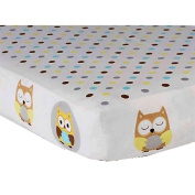 Child of Mine Treetop Friends Owl fitted crib sheet by Carter's