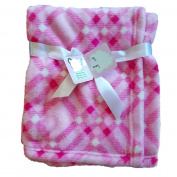 Honey Baby Pink Ultra Soft Plush Baby Blanket