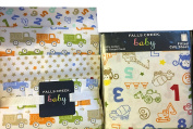 Fitted Baby Crib Sheets with Matching 3 Receiving Blankets Trucks