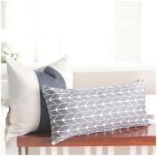 Oilo 30cm X 60cm Finn Pillow, Charcoal