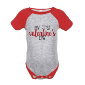 Custom Party Shop Kids My First Valentine's Day Red Onepiece