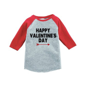Custom Party Shop Boy's Happy Valentine's Day Red Raglan