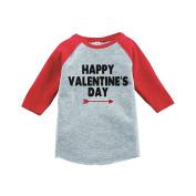 Custom Party Shop Boy's Happy Valentine's Day Red Raglan