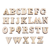 200PCS Wooden 0-9 Numbers And A-Z Wooden Letters DIY Toys For Kids Children Early Learning