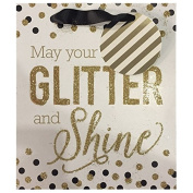 allen + roth Christmas Paper Gift Bag GLITTER AND SHINE