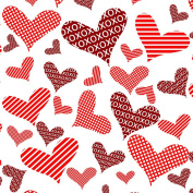 Flying Love Design Valentine's Day Wrapping Paper - 1.8m Roll