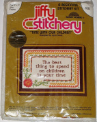 Vintage 1977 Time With Out Children Jiffy Stitchery