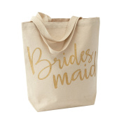 Mud Pie Wedding Canvas Tote Bag, Bridesmaid