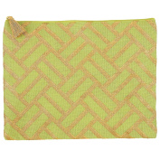 Mud Pie 8613284GR Shimmer Juco Carry All Clutch Lime Green,Lime weave