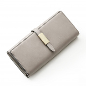 Jiaruo Simple Leather Wallet long Clutch Card Holder Pouch Purses