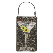Women's Purse - Beaded Cocktail Wristlet Handbag - Martini