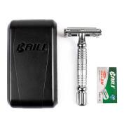 BAILI Manual Double Edge Safety Razor, 1 Razor + 1 Stainless Steel Blade