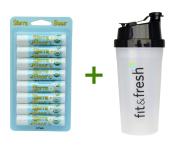 Sierra Bees, Organic Lip Balms, Unflavored, 8 Pack, .440ml (4.25 g) Each, (4 PACK), Vitaminder, Power Shaker Bottle, 590ml Bottle