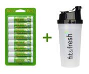 Sierra Bees, Organic Lip Balms, Mint Burst, 8 Pack, .440ml (4.25 g) Each, (4 PACK), Vitaminder, Power Shaker Bottle, 590ml Bottle