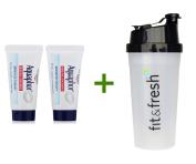 Aquaphor, Healing Ointment, Skin Protectant, 2 Tubes, 10ml (10 g) Each, (4 PACK), Vitaminder, Power Shaker Bottle, 590ml Bottle
