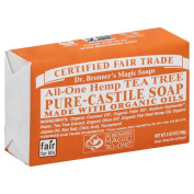 Dr. Bronner's Magic Soaps All‑One Hemp Tea Tree Pure‑Castile Soap 150ml (Pack of 6) +