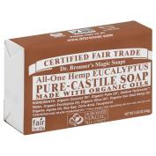 Dr. Bronner's Magic Soaps All‑One Hemp Eucalyptus Pure‑Castile Soap 150ml (Pack of 6) +