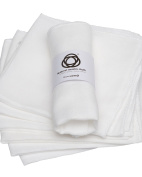 6 x Muslin Face Cloth, Gentle Wash, Cleanse, Remove Make Up and Exfoliate, 100% Natural Egyptian Cotton by Brown Earth