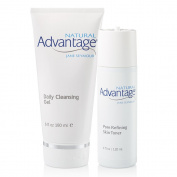 Facial Purifying Kit for Enlarged Pores with Daily Cleansing Gel 180mls and Pore Refining Toner 120mls