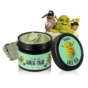 DCKR Real Shrek Wash-Off Pack - Pore Minimizer and Sebum Remover for Deep Pore Cleansing by Pure Clay Ingredient from France - Made in Korea