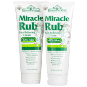 Miracle Rub Pain Relieving Cream 240ml - 2 Pack Miracle Pain Relieving Cream Penetrates Deep and Provides Soothing Pain Relief Quick!