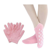 Pinkiou Soft silicon glove Moisturise Soften cracked Skin care Gel SPA Gloves and Socks