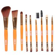 Mosunx(TM) 9pcs Pro Cosmetic Eye Shadow Foundation Blending Brush