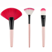 Mosunx(TM) 3pc Pro Foundation Fan-shaped Cosmetic Powder Brush