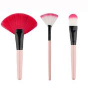 Mosunx(TM) 3pc Pro Foundation Fan-shaped Cosmetic Powder Brush