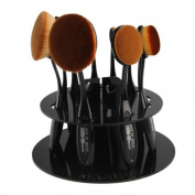 Togirl 10Pc Foundation Brush Shelf Storage Organiser Makeup Brush Display Holder Black