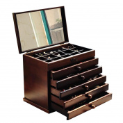GAMT Cherry Wood Multifunction Printing Cosmetic Storage Box