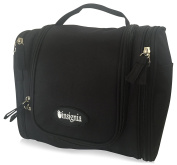 Hanging Toiletry Bag: Insignia Mall Travel Cosmetic Organiser For Men, Women, Boys, Girls With Side Pockets, Compartments. Folded Size: H: 25cm x W