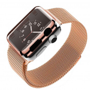 AutumnFall Mesh Loop Milanese Stainless Steel Bracelet Strap Band + Cover Case for Apple Watch Series 2 38mm