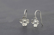 flower stud earring with 4 leaf vintage sterling earring party gift