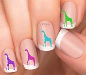 Giraffe Design #7 Nail Art Decals