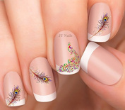 Peacock and Feather Nail Art Decals