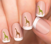 Giraffe Design #6 Nail Art Decals
