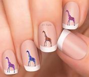 Giraffe Design #4 Nail Art Decals