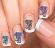 Elephant # 12 Nail Art Decals