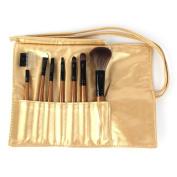 7PCS Makeup Blush eyeshadow Lip Brush Golden Cosmetic Brushes Set Kit + Bag Case by OrrOrr