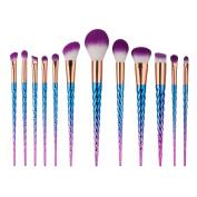 ExGizmo Thread Colurful Nylon Hair Make Up Foundation Blush Eyebrow Eyeliner Blush Concealer Brushes Gift Set