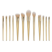 Togirl 12pcs Pro Makeup Brushes Set Powder Foundation Eyeshadow Eyeliner Lip Brush Tool