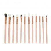 Togirl 12pcs Pro Makeup Brushes Set Foundation Powder Eyeshadow Eyeliner Lip Brush Tool Pink