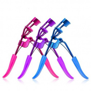Silicone Pad Metal Eyelash Curler 3 Colours