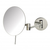 Sharper Image JRT685C 20cm Slimline Wall Mount 5x Magnification Mirror, Chrome