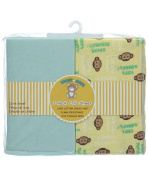 Honey Baby 2-Pack Fitted Crib Sheets - blue/multi, one size